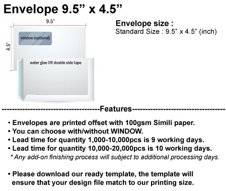 ACC Product detail-Envelope 9.5x4.5 - Printing Agent's Best ...