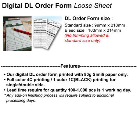 Acc Product Detail Dl Order Form Printing Agents Best Working Partner